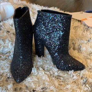 Aldo Sparkly Black Boots